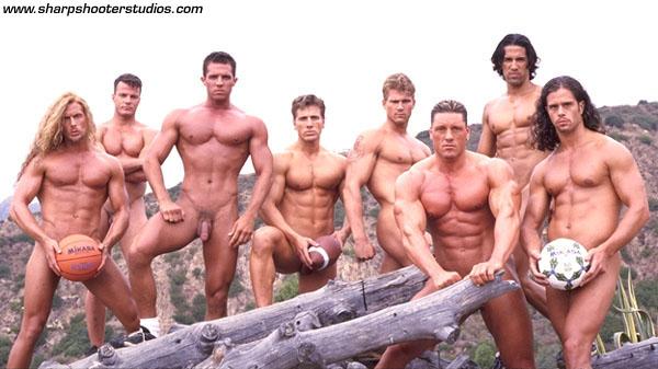 Sports men nude